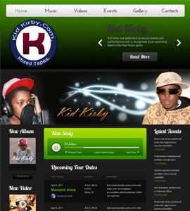 Music & Bands Web design & development company