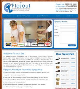 Interiors & Furniture Web design & development company