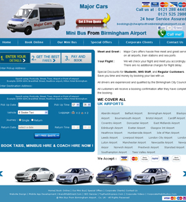 Car Hire & Taxi Web design & development company