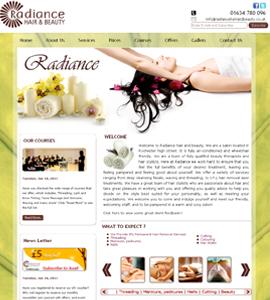 Beauty Parlours & Spa Finance Web design & development company
